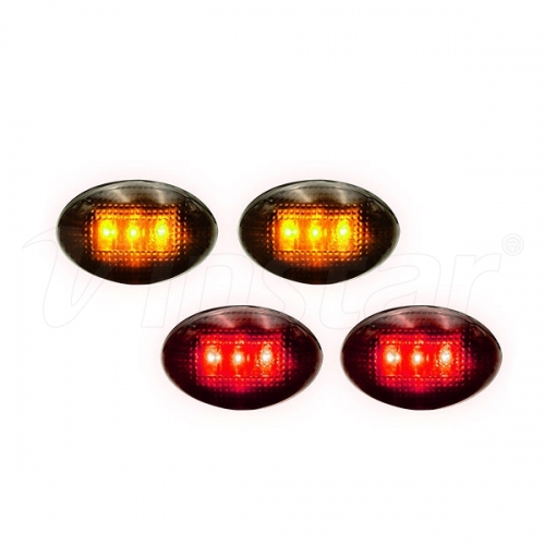 Rear Side Marker Lights (Amber/Red)